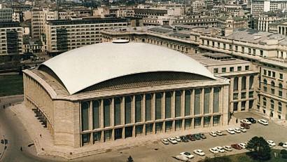 Sala Palatului, Bucharest. Architects:  H. Maicu, T. Ricci, I. Serban, R. Belea